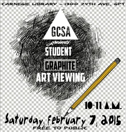 GCSA Student Graphite Art Viewing